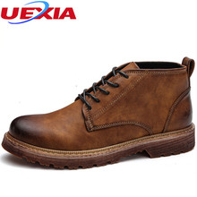 UEXIA New Men font b Shoes b font Leather Business Slip On Loafers Formal Oxford Dress