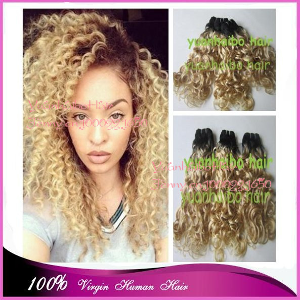 Top 7a Grade 3pcs Lot Two Tone 1bt 613 Virgin Peruvian Loose Curly Ombre Hair Weaves For White Women Free Shipping On Aliexpress Alibaba Group