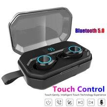 X6 Pro Headset Wireless Bluetooth 5.0 Earphones TWS Earbuds Noise Reduction Waterproof Mini Earphone with 4000mAh Charging Case
