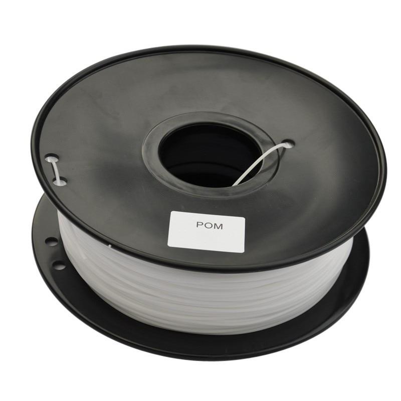 3d printer filament POM 1.75mm 1kg/0.5KG/0.1KG plastic Rubber Consumables Material MakerBot/RepRap/UP/Mendel