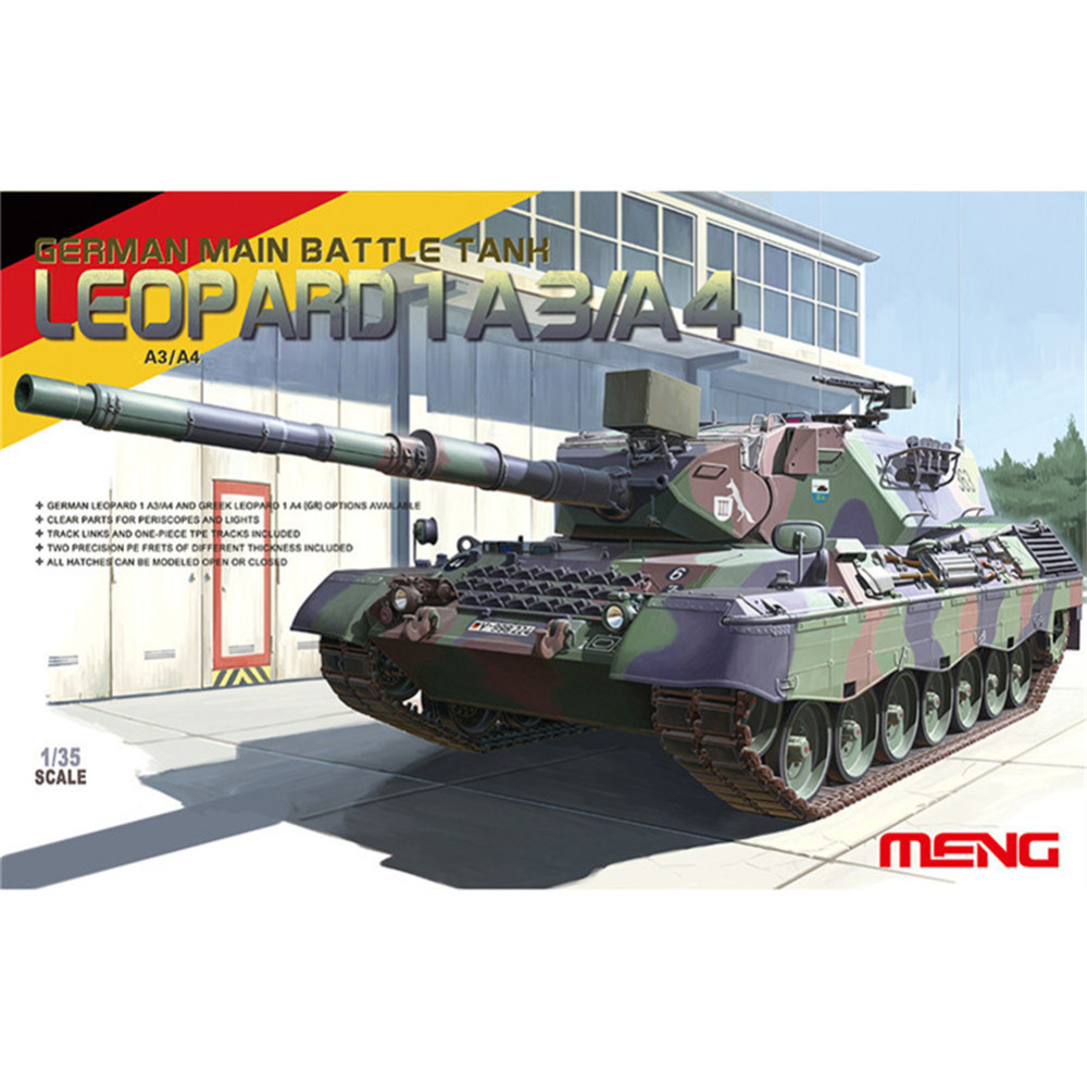 OHS Meng TS007 1/35 German Main Battle Tank Leopard 1 A3/A4 AFV Model Building Kits ohs meng ts015 1 35 german main battle tank leopard 1 a5 military afv model building kits