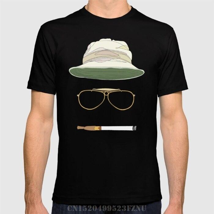 Бренд Костюмы низкая цена Мужская футболка страх и ненависть в Лас-Вегасе короткие с круглым вырезом Новинка Хлопок Хип-хоп футболки Homme кос... ...