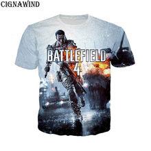 Новый стиль Харадзюку футболка для мужчин женщин Дизайн творческая игра  Battlefield 4 Объёмный рисунок ( dd2344a5ac2