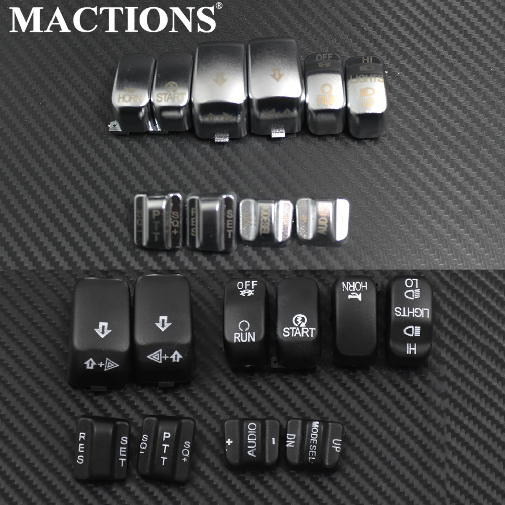 Slim Black Chrome Hand Controls Behuizing Switch Cover Button Cap Kit Voor Harley Softail Dyna Road King Heritage Tour Glide Fatboy Kortingen Prijs