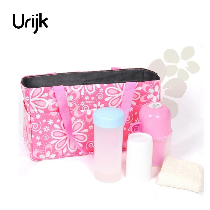 Urijk Portable Travel Outdoor Baby Diaper Nappy Organizer Stuffs Insert Storage Bag Insert Storage Waterproof Mom Bag Handbag