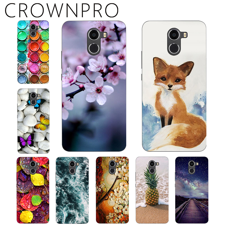 CROWNPRO Soft Silicone TPU Wileyfox Swift 2 Case Cover Colored Painting Wileyfox Swift 2 Plus Case Phone Back Protective Case