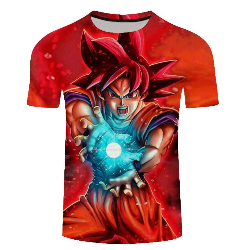 2018 новые летние классические Аниме Драконий жемчуг Z 3D футболка Для мужчин Гоку плюс Размеры модная футболка смешно Хип-хоп уличная футболка