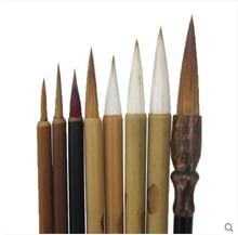 Кисть для рисования 8 шт./компл. крючок ручка традиционная китайская каллиграфия DIY инструмент для рисования канцелярские принадлежности Акварельная кисть для рисования
