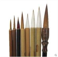 Juego de pinceles para pintar, 8 unidades, pluma de línea, caligrafía china tradicional, herramienta de pintura artesanal, papelería, pincel de pintura de acuarela