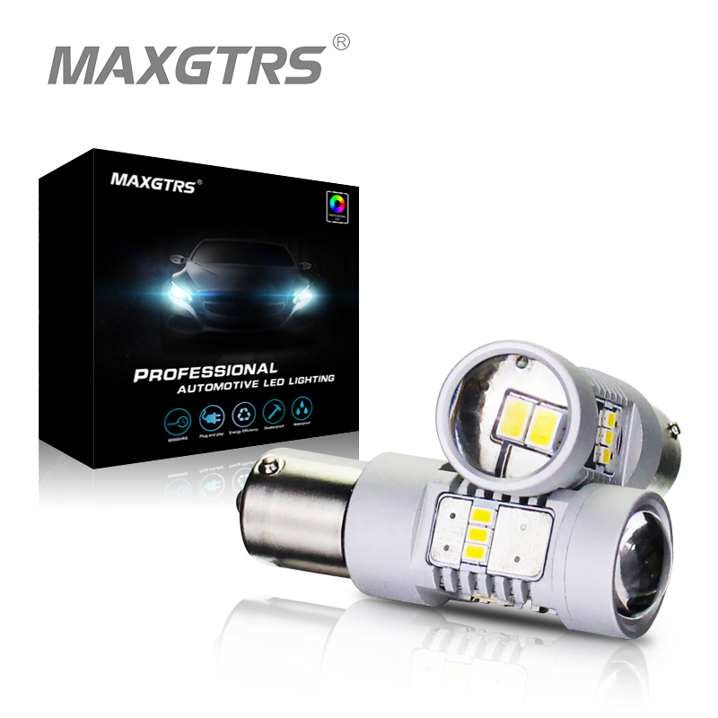 MAXGTRS Car Turn Signal Tail Light 1156 LED BAU15S PY21W S25 3020 14SMD White Abmer Auto Brake Reverse Lamp Rear Parking Bulbs диск dvd r verbatim 4 7gb 16x cake box 10 шт