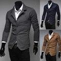 2014 moda primavera único breasted casual malha masculino terno masculino fino outerwear