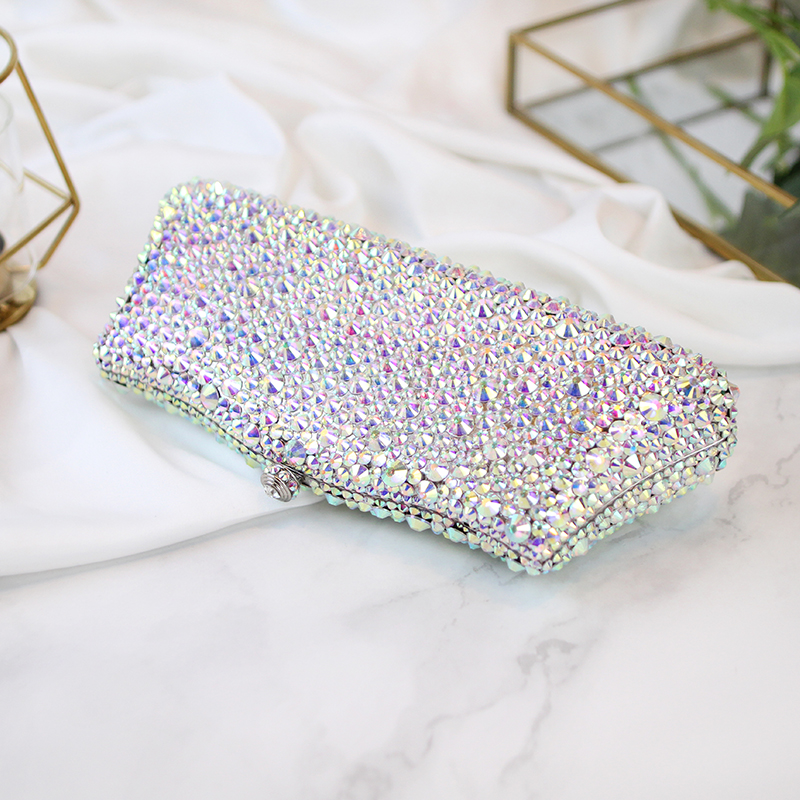 evening bags crystal womem's clutches rhinestone luxury dinner Symphony full diamond packet length fashion female 2017 new bag women custom name crystal big diamond clutch full crystal hot selling 2017 new fashion evening bags 1001bg