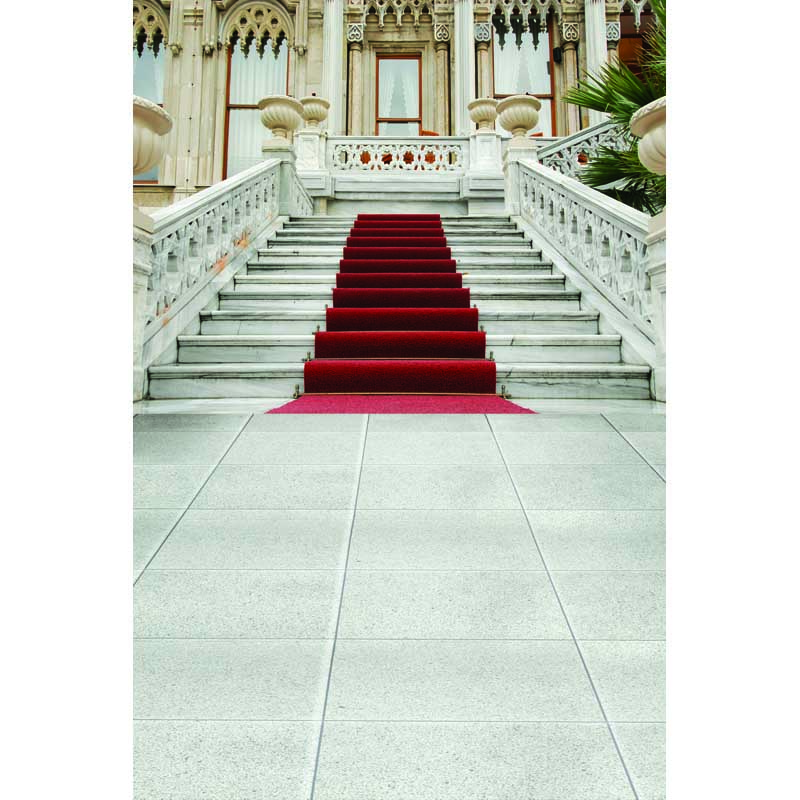 Background Photography Palace Red Carpet Stair Wedding Photo Backdrop Background Thin Vinyl Sweet 16 Princess Backdrops
