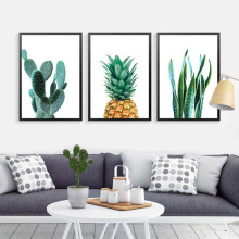 Cactus Wall Art Canvas Painting Home Decor Wall Paintings Pineapple Wall Pictures For Living Room Canvas Prints Poster Unframed w005 calla lily unframed art wall canvas prints for home decorations