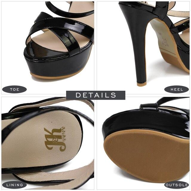 Super Big Size 32-48 Gladiator Sandals Women Sandals Sexy Open toe Summer Shoes Woman High Heels Sandals Platform Summer Style 8