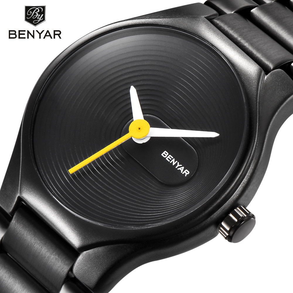 BENYAR Lovers' Watch Men&Women Brand Luxury Quartz Watches Fashion Casual Waterproof 30M Dress Watch Christmas Valentine's Gifts