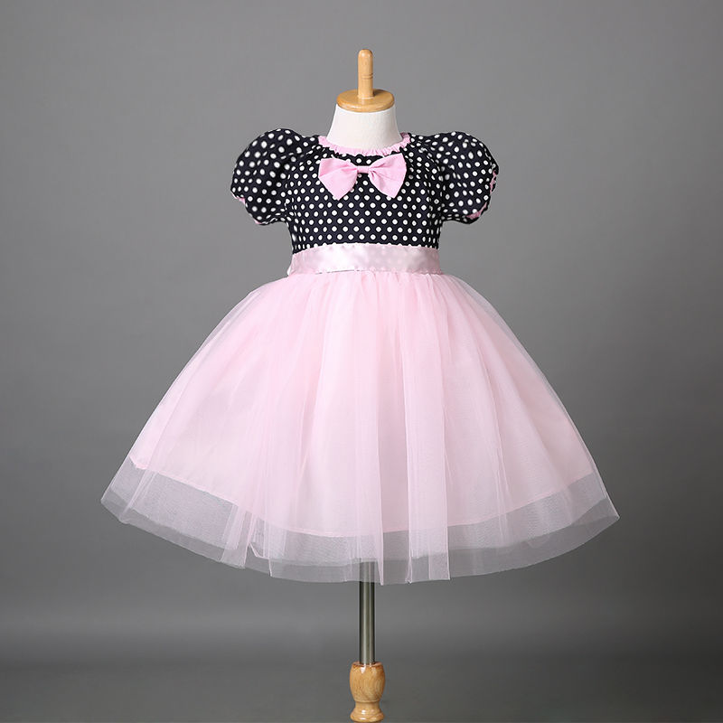 Elegant Girl Dress Girls 2015 Summer Fashion Pink  Big Bow Party Tulle Flower Princess Wedding Dresses Baby Girl dress new fashion embroidery flower big girls princess dress summer kids dresses for wedding and party baby girl lace dress cute bow