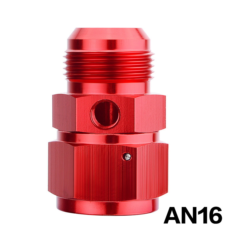 Red Aluminum Anodize Finish 6AN Female to 6AN Male with 1//8 NPT Side Port Fuel Pressure Takeoff Fitting adapter