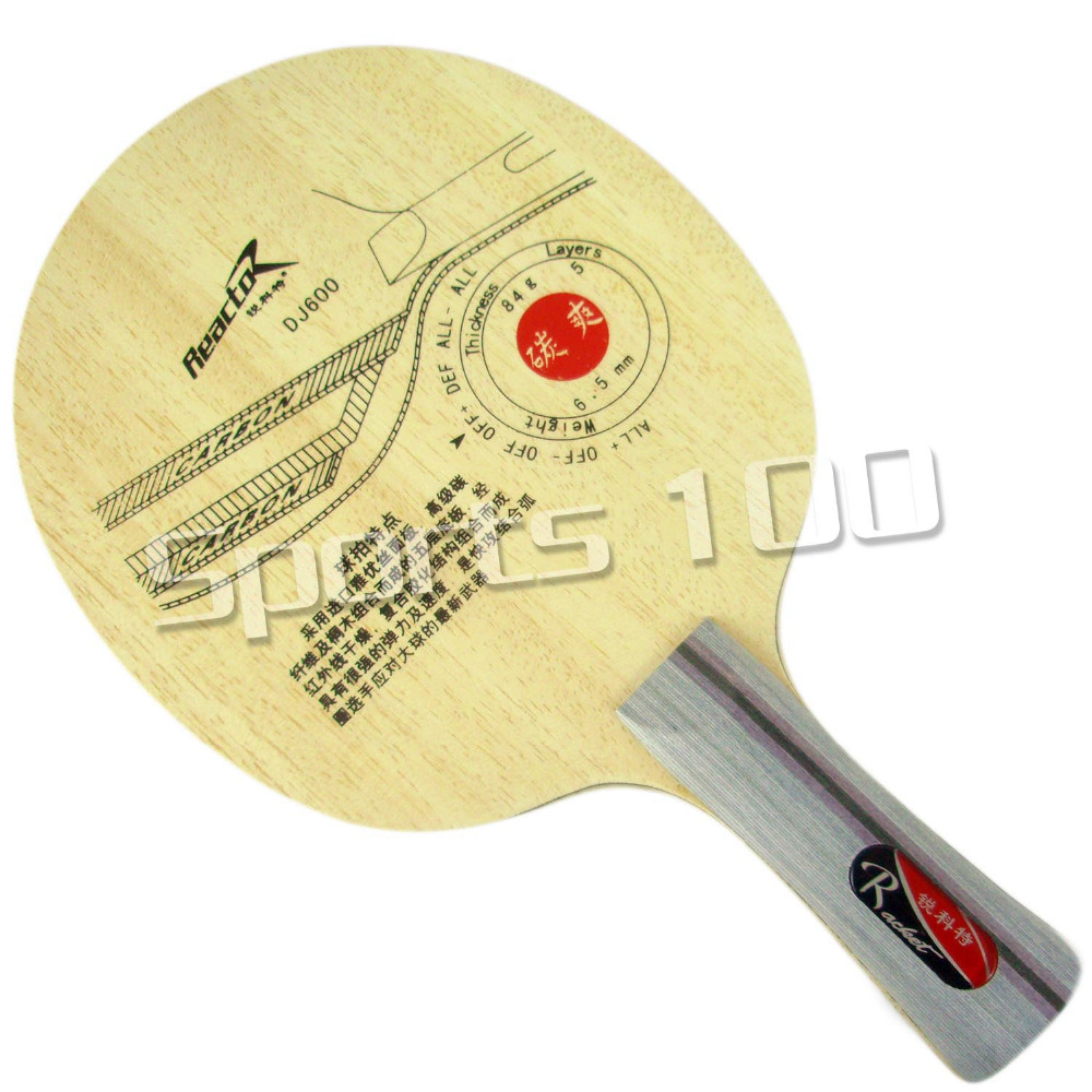 Reactor DJ600 (DJ 600, DJ-600) Attack+Loop, OFF+ Table Tennis Blade for PingPong Racket ...