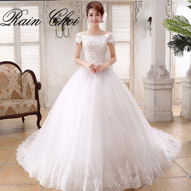 Ball Gown Elegant Tulle Bridal Gowns Short Sleeves vestido de noiva ...