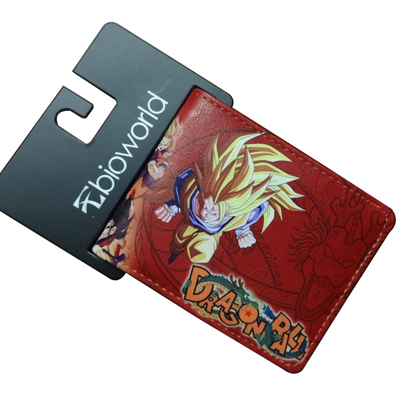 Japanese Cartoon Dragonball Wallets Anime DRAGON BALL Sun Wukong Isaiah PU Leather Purse Dollar Bags Students Children's Wallet