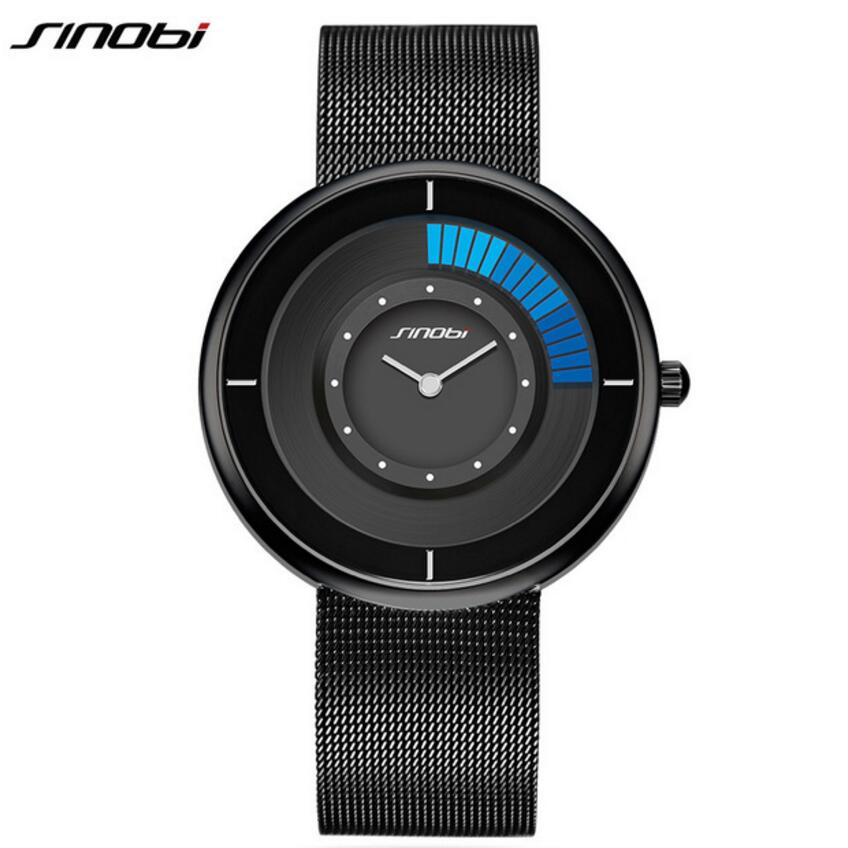 SINOBI Luxury Ultra thin Watches Fashion Unique Rotate Watch Men Watch Stainless Steel Men's Watch Clock saat reloj hombre gina viegliņa valliete atradene un eņģelis