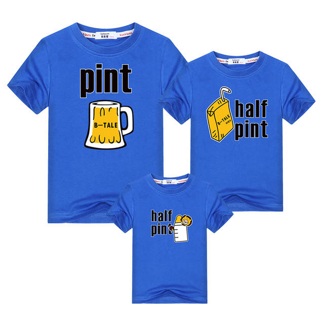 US $3 93 39% OFF|Funny beer milk drink family matching clothes father  mother kids family look t shirt dad mom children tops summer print  outfits-in