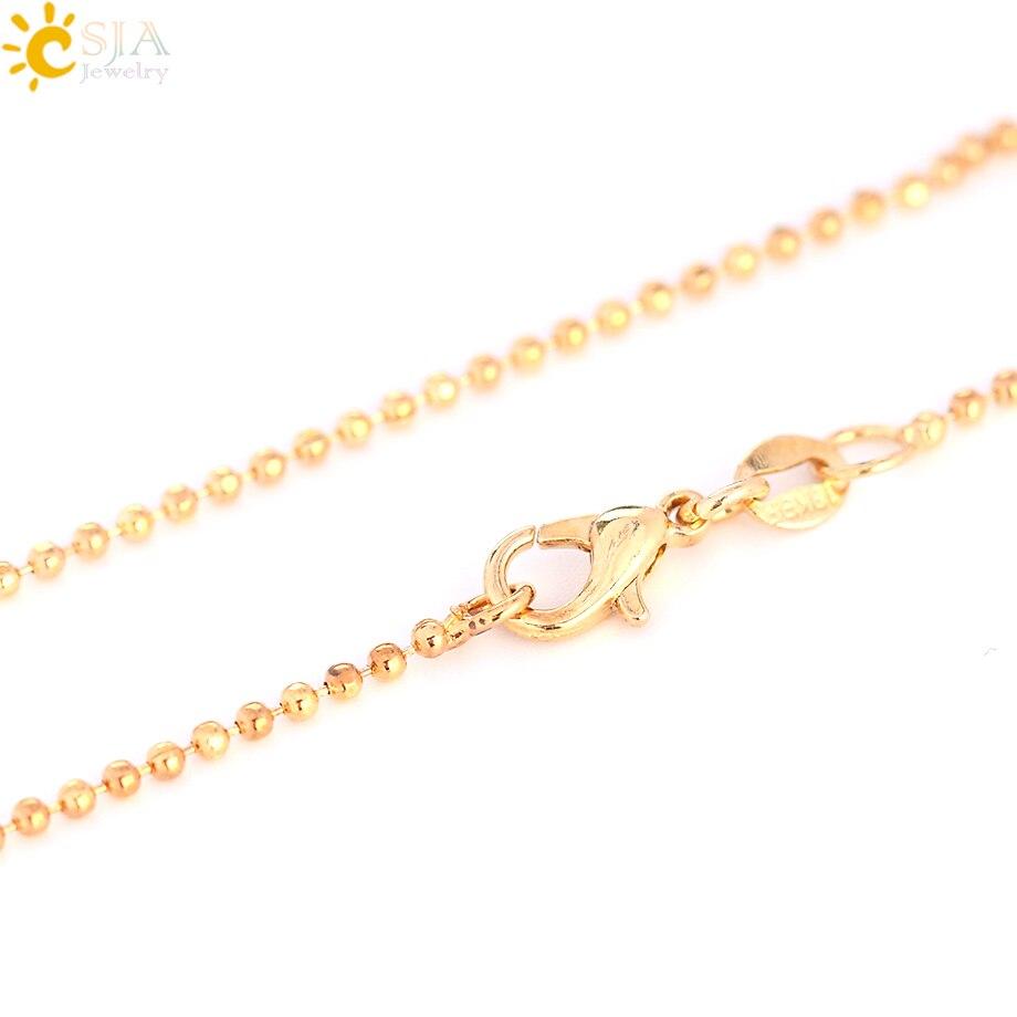 CSJA Natural Stones Crescent Moon Necklaces Pendants Purple Crystal Pink Quartz White Stone Gold Color Reiki Women Jewelry F306
