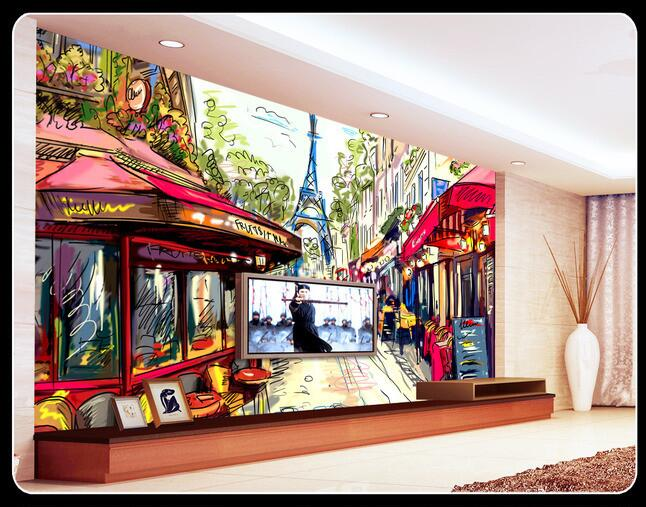 3d wallpaper custom mural non-woven TV setting wall three-dimensional canvas of streets of Paris  mural landscape painting comprehensive three dimensional cbct analyses of the tm joint