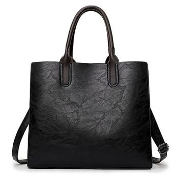 Xtrend Black Red Gray Brown  2016 Fashion Women Bag Ladies Brand Leather PU Handbags Casual Tote Bag Big Shoulder Bags For Women grande bolsas femininas de couro