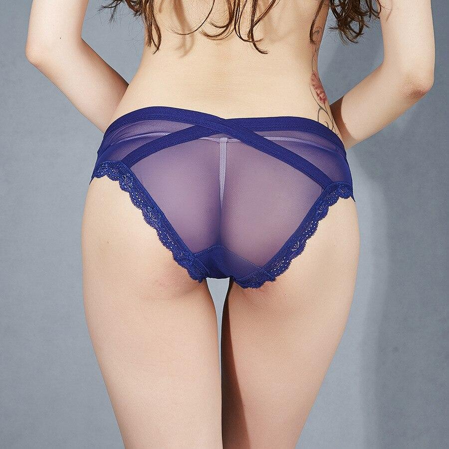 Seedrulia 2018 Sexy Lace Transparent Panties Knickers Lingerie Underwear For Women M L XL
