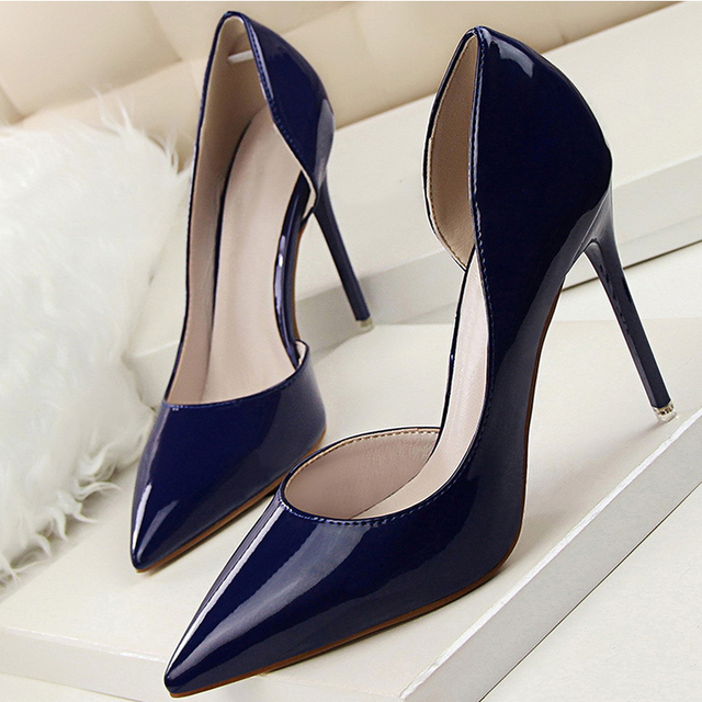 Women Pumps Spring Autumn High Heels Women Shoes Fashion Pointed Toe Shallow Wedding Party Heels Pumps Shoes  638-5