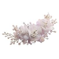 Mode À La Main De Mariée En Soie Fleur Cheveux Clip Avec Perles et Perles D'imitation De Mariage En Épingle À Cheveux