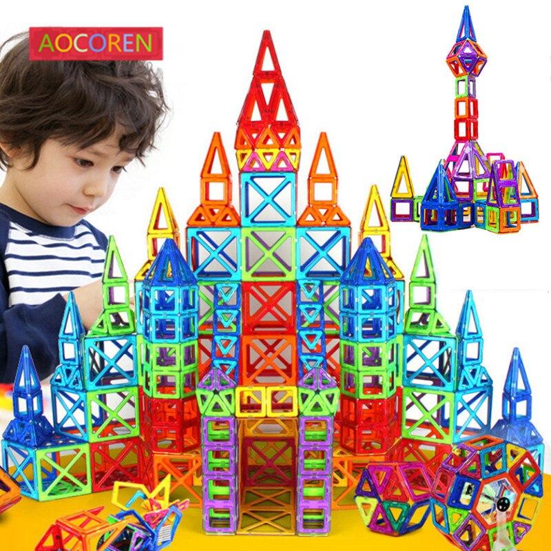 Aocoren 90pcs Magnetic Designer Creator Magformers Magnetic font b Toys b font 3D DIY Building Blocks