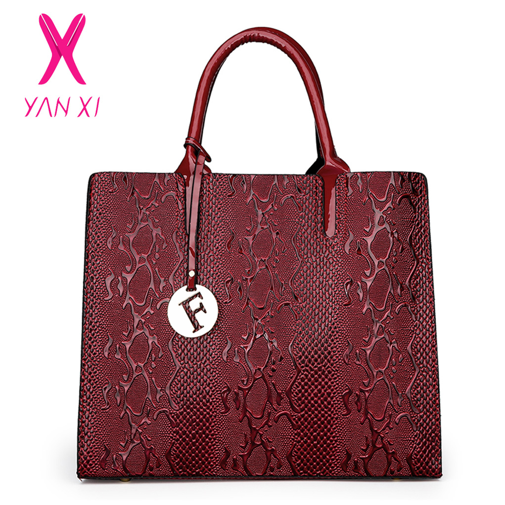 New Fashion PU Leather Women Bag Ladies Luxury Snake Shoulder Bags Designer Handbags High Quality 2018 Spring Ladies Tote Bag designer handbags high quality 2017 new fashion european and american style shoulder bags women pu leather ladies tote bag