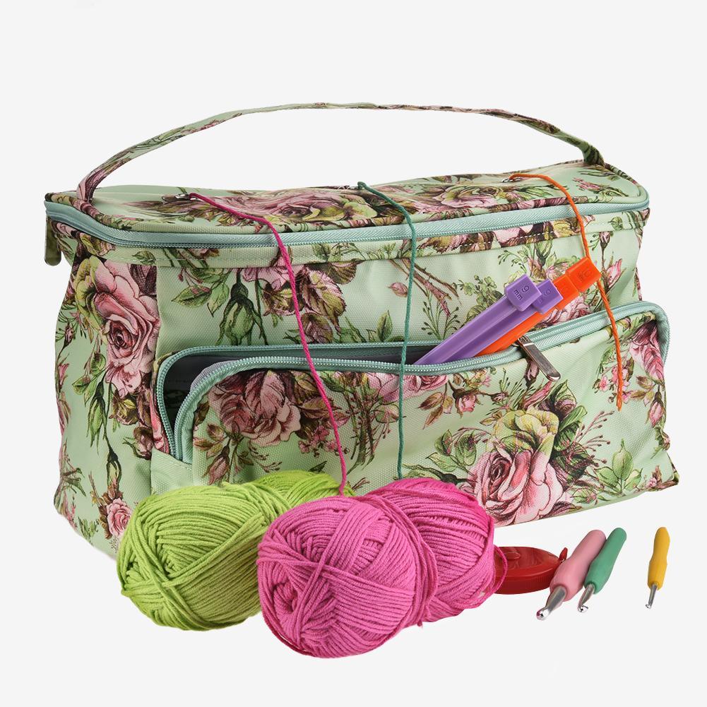 DIY Knitting Bag Tangle-Free Yarn Storage Tote Crocheting Supplies Organizer Sturdy Lightweight Knitting Crochet Bag