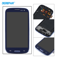 Black For Samsung Galaxy S3 I9300 LCD Display Touch Screen Digitizer With Home Botton Full Assembly