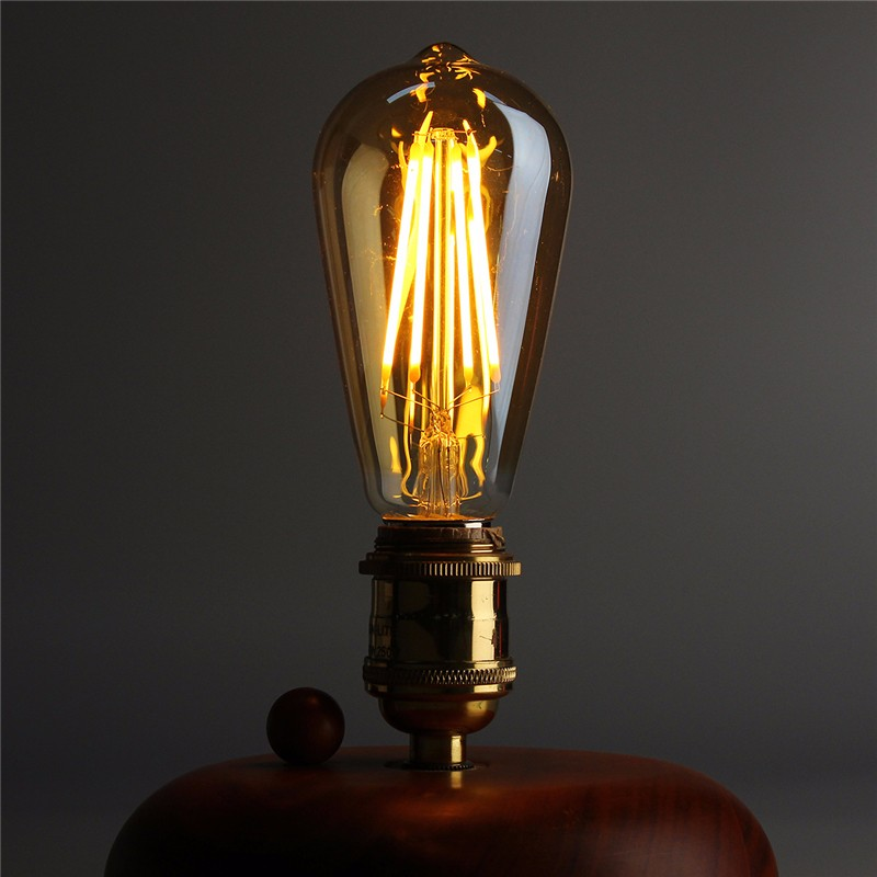Dimmable Vintage Edison LED Light Bulb E27 B22 ST64 4W Cage Retro Filament LED Light Lamp Bulb 220V Warm White LED Ligthing retro lamp st64 vintage led edison e27 led bulb lamp 110 v 220 v 4 w filament glass lamp