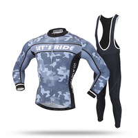 XINTOWN Cycling Jersey Set Long Sleeve Winter Autumn Spring 3d Gel Pad De La Bici Ropa