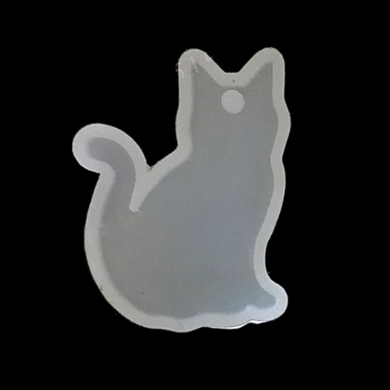 DIY Rabbit Cat Silicone Resin Molds Animal Pendant Necklace Jewelry Mold Tools