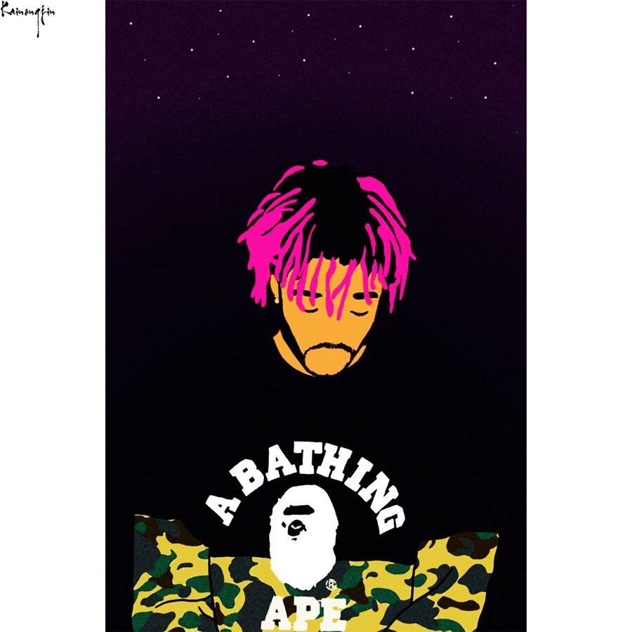 Zp431 New Lil Uzi Vert Camo A Bathing Ape Rap Music Art