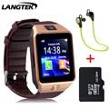 Langtek smart watch dx01 wearable dispositivos bluetooth reloj de pulsera para teléfonos android con tarjeta sim smartphone smartwatches salud
