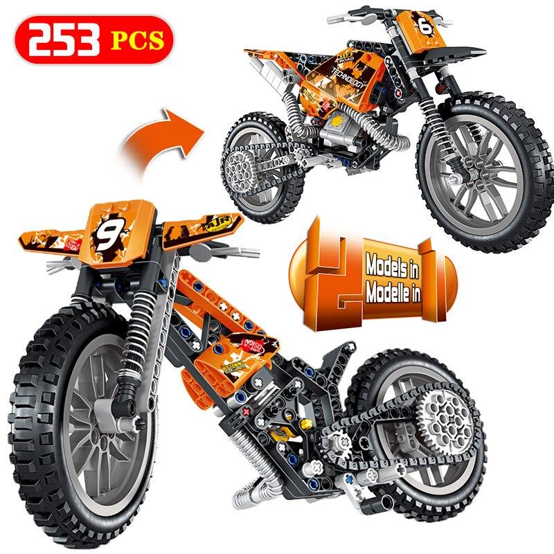 Creatore RC Auto Blocchi di LegoINGlys Technic Moto Off-road Del Veicolo Mirage Tempesta Da Corsa Auto FAI DA TE Giocattoli Dei Mattoni Per I Bambini