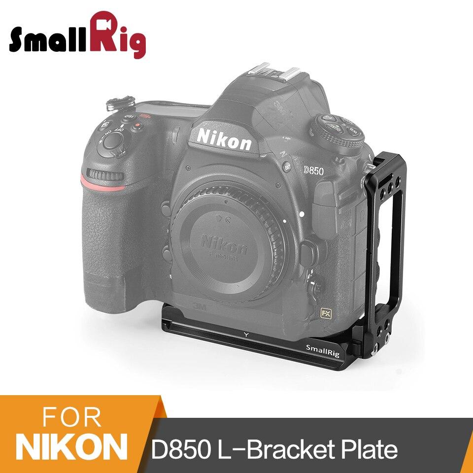 SmallRig D850 L Bracket for Nikon D850 Camera Arca Swiss Standard Quick Release L Plate Mounting