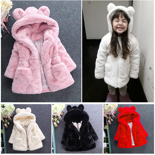 413de5d0a509 Baby Kids Clothes Winter Jacket For Girls Thicken Warm Faux Fur ...