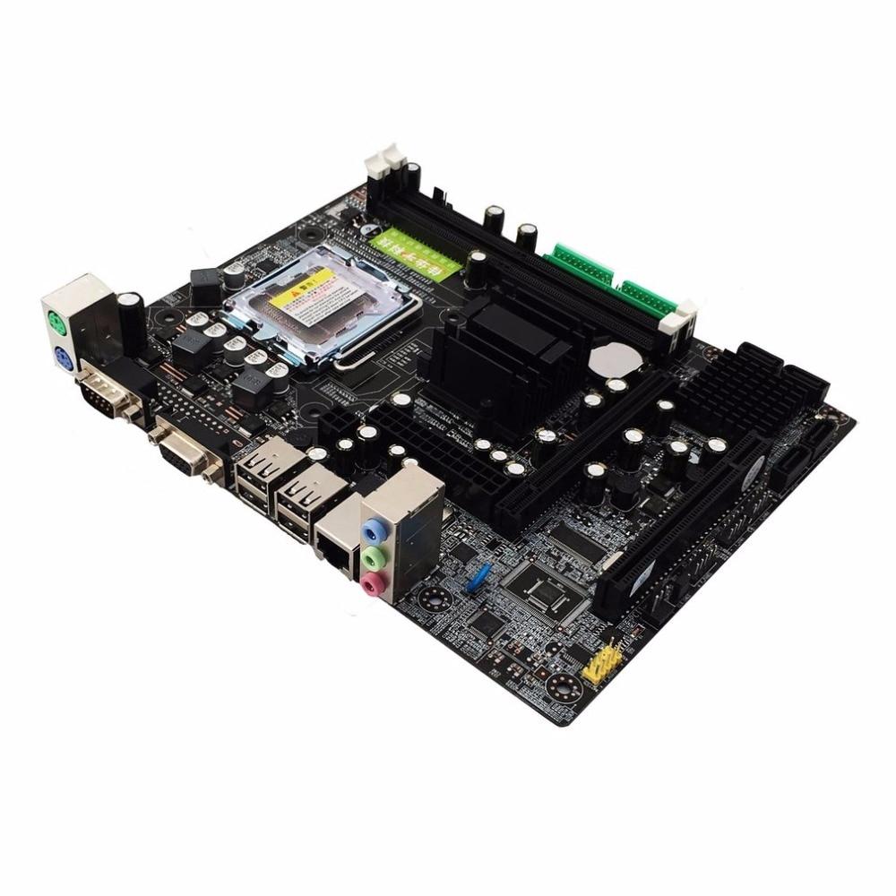 все цены на Motherboard 945GC+ICH Chipset Support LGA 775 FSB533 800MHz SATA2 Ports Dual Channel DDR2 Memory онлайн