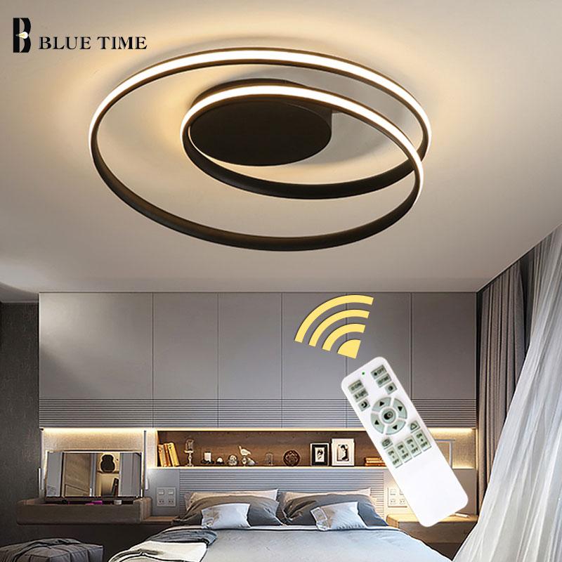 Modern Led Lustre Para sala de estar Quarto sala de Jantar Luminárias Lustre de Teto Luminária de Iluminação Black & White 110 V 220 V