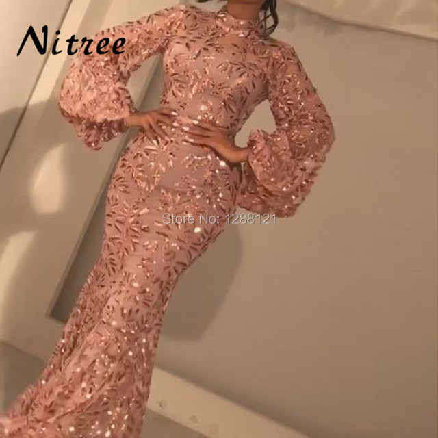 2018 African Pink Evening Dresses Vestidos de festa Moroccan Kaftans Gowns  Dubai Turkish Arabic Aibye Prom Dress Abendkleider 8e3cef4a829c
