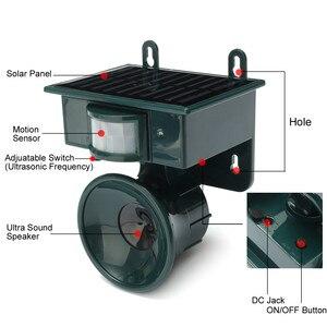 Image 2 - Ультразвуковой отпугиватель птиц на солнечных батареях с пассивным ИК датчиком движения, Репеллент для животных, отпугиватель птиц для защиты дома и сада
