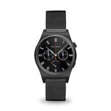 Smartch 2017×10 plenamente redondeado smart watch smartwatch soporta suppors theart monitor del ritmo cardíaco del bluetooth 4.0 de cuero real árabe
